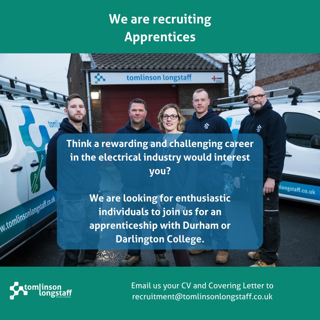 We are recruiting Apprentices