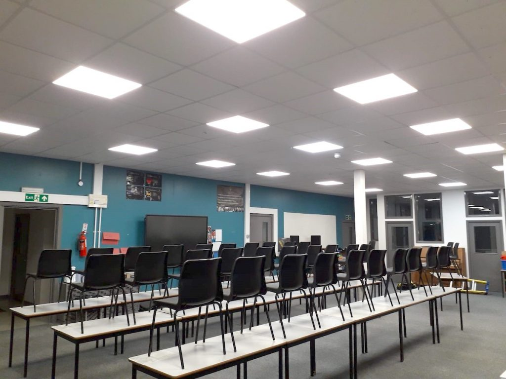Woodham classroom after LED replacement