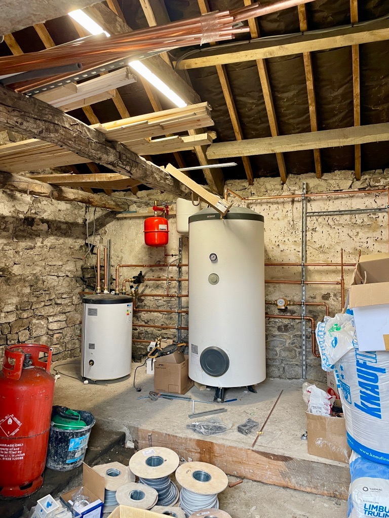 Boiler room at Raby Estates